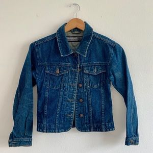 Extra Small Vintage Faded Denim Jacket with Patina